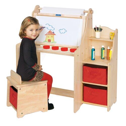 Guidecraft Art Equipment 36 Quot W Art Desk Set With Storage