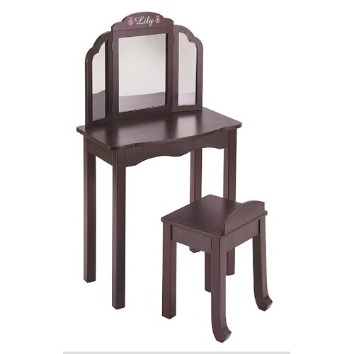Guidecraft Personalized Furniture Vanity Set with Mirror