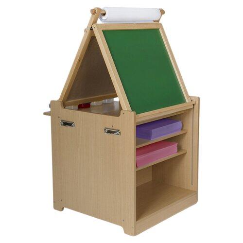 Guidecraft Desk to Easel Art Cart