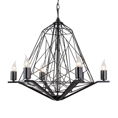 Wright Stuff 6 Light Candle Chandelier