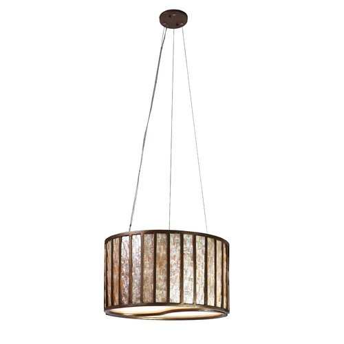 Foyer Drum Lighting : Uttermost brandon light drum foyer pendant reviews
