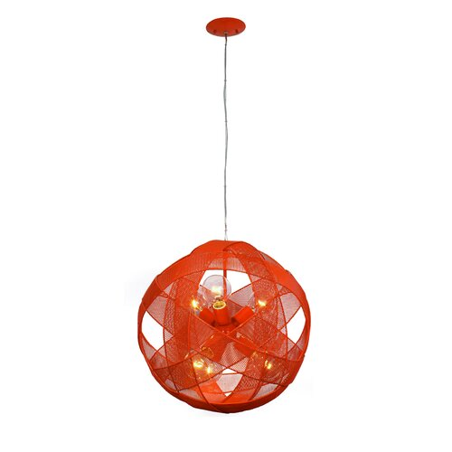 At-Mesh-Sphere 6 Light Foyer Pendant
