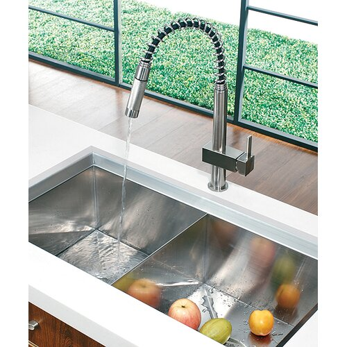 Vigo Teramo One Handle Single Hole Spiral Kitchen Faucet
