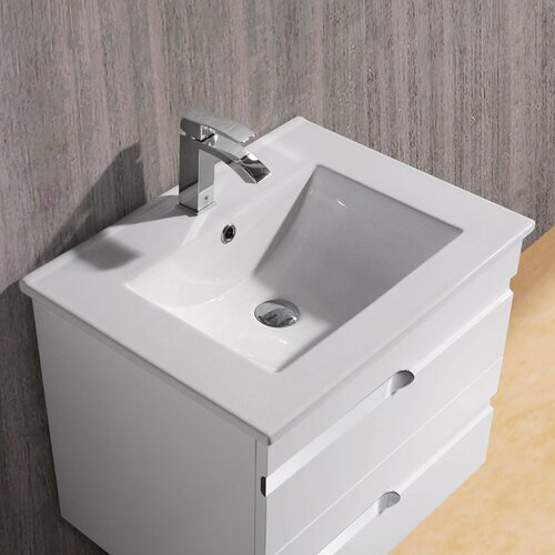 "Vigo Ethereal-Duece 24"" Single Bathroom Vanity Set"