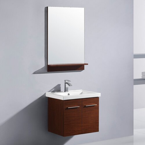 "Vigo Amber 23.63"" Single Bathroom Vanity Set"
