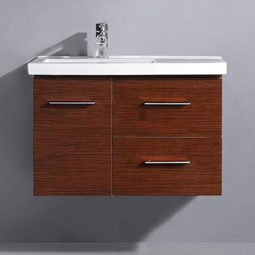 "Vigo Moderna Trio 31.25"" Single Bathroom Vanity Set"