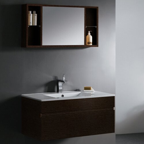 "Vigo Picasso 36"" Wall Mounted Bathroom Vanity Set"