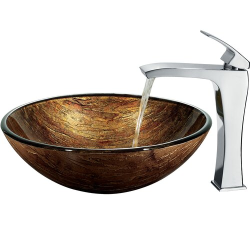 Vigo Sunset Bathroom Sink with Faucet