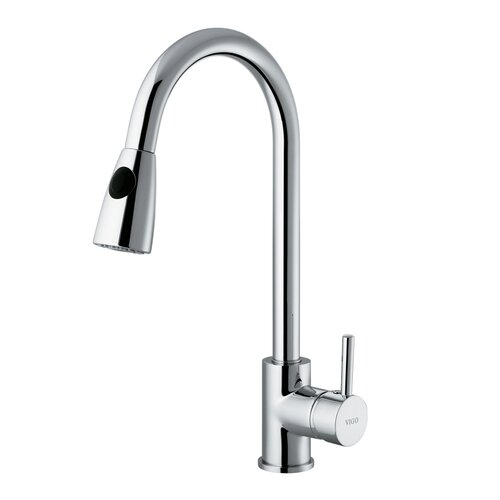 Vigo Rodeo One Handle Single Hole Pull Out Kitchen Faucet