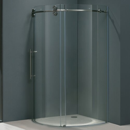 Vigo Frameless Round Neo-Angle Left Side Shower Door