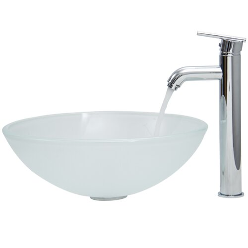 Vigo Glass Vessel Sink with Faucet