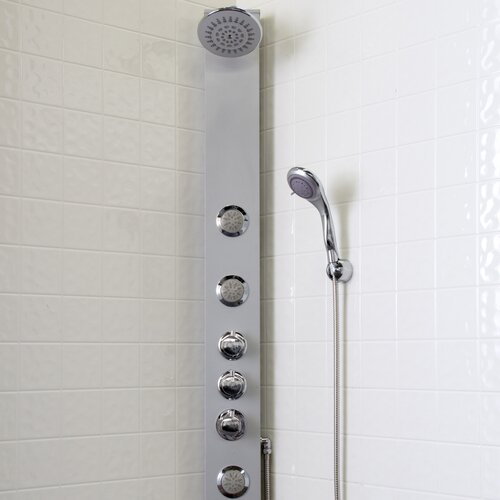 vigo dual function shower panel with rain shower head
