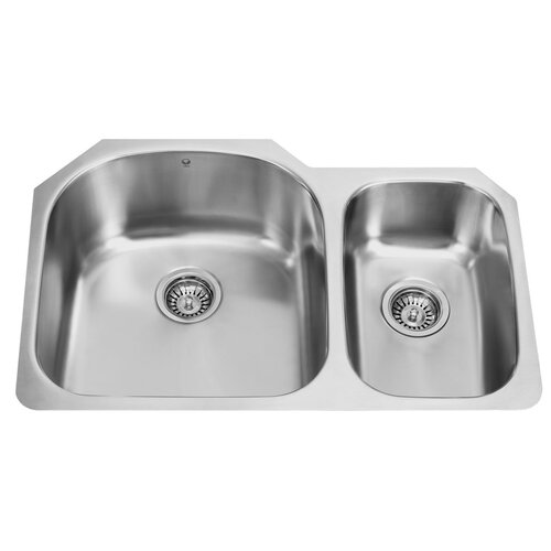 "Vigo 31.5"" x 20.5"" Double Bowl Undermount Kitchen Sink"