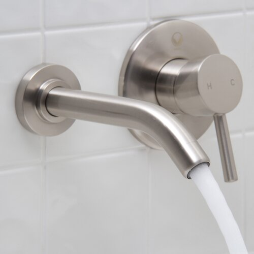 Vigo Wall Mounted Bathroom Faucet with Single Lever Handle