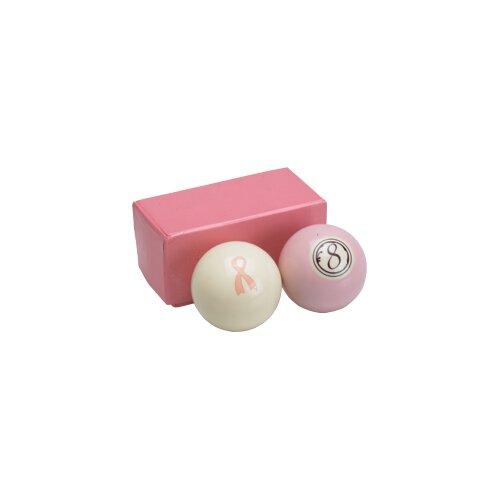 Action Action Billiard Balls Pink Set - Cue Ball and 8 Ball