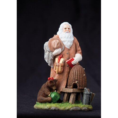 "Precious Moments ""Honey Bee Santa"" Limited Edition Santa with Bear and Beehive Figurine"