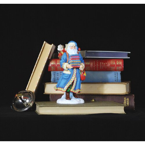 "Precious Moments ""Pleasure of Reading Santa"" Limited Edition Santa Holding Books Figurine"