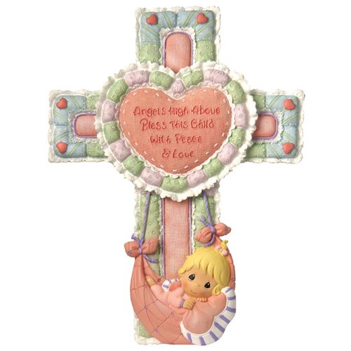 Precious Little Blessings Baby Girl Cross Figurine
