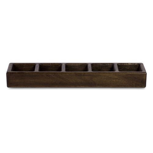 IMAX Aurora 5 Light Wood Candle Dish