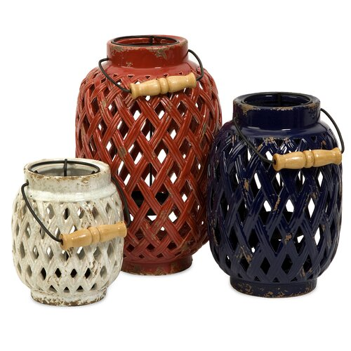 IMAX Bailey Lattice Lanterns (Set of 3)