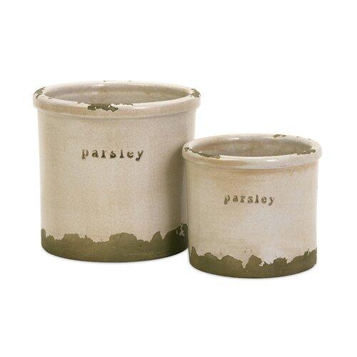 Parsley Herb Pots - Set of 2