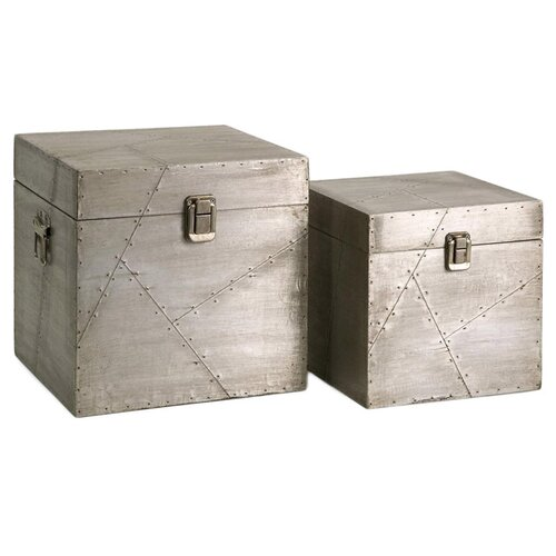 Jensen Aluminum Clad Boxes (Set of 2)
