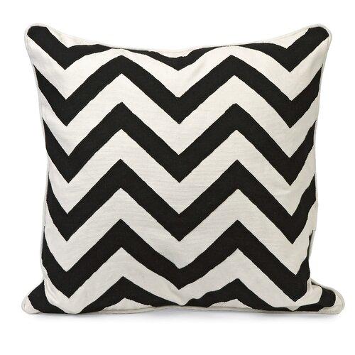 Chevron Embroidered Cotton Pillow