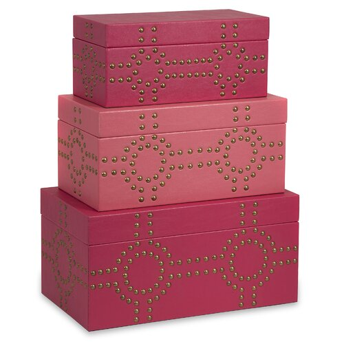 Julia Studded Box (Set of 3)