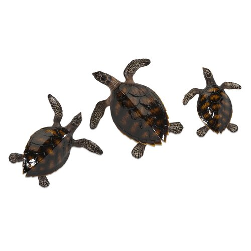 Swanson 3 Piece Sea Turtle Wall Decor Set
