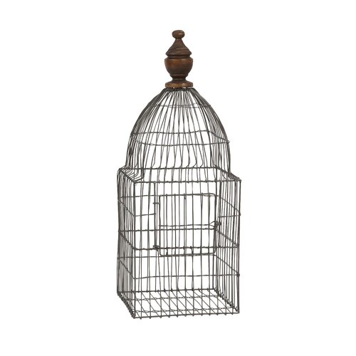IMAX Videle Wire Birdcage with Wood Finial