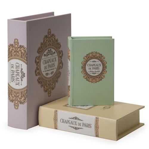 Paris 3 Piece Book Boxes Set