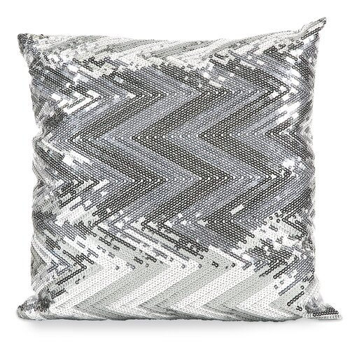 Chevron Estradin Sequin Pillow