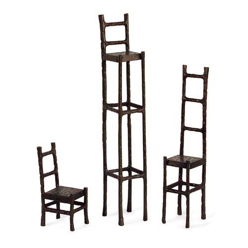 3 Piece Chair Sculptures Set