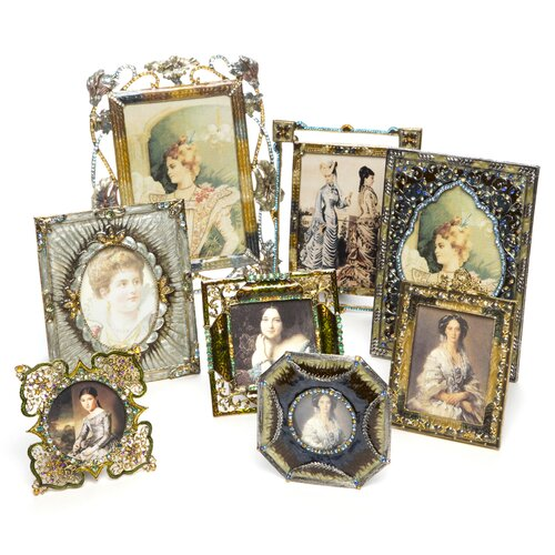 Eight Piece Vintage Jeweled Picture Frame (Set of 8)