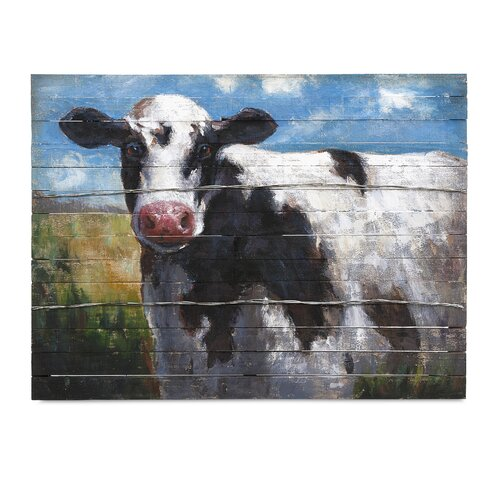Lester Cow by Ella Elaine Painting Print