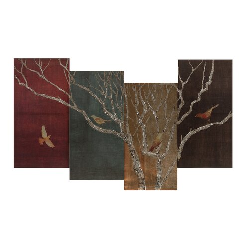 Seasons 4 Piece Painting Print Set