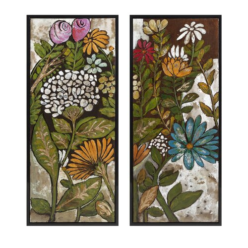 Claudette 2 Piece Framed Painting Print Set