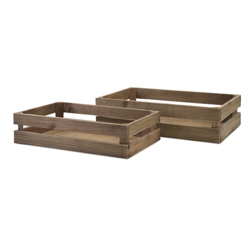 2 Piece Joelle Wood Crate Set