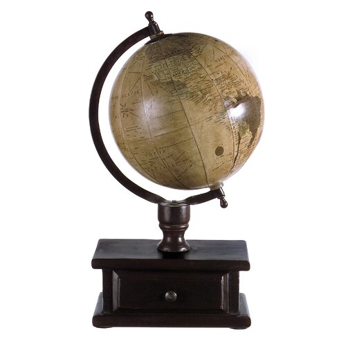 IMAX Small Desktop World Globe with Storage