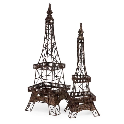 2 Piece Eiffel Tower Accent Set