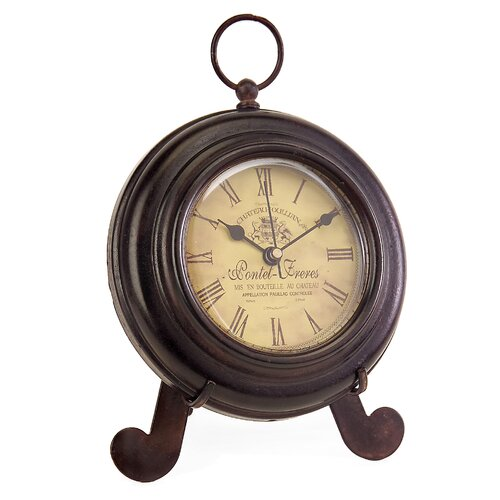 IMAX Desk Clock in Brown