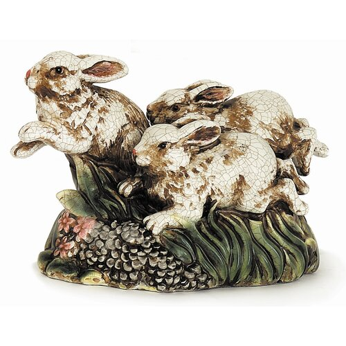 Racing Rabbits Figurine