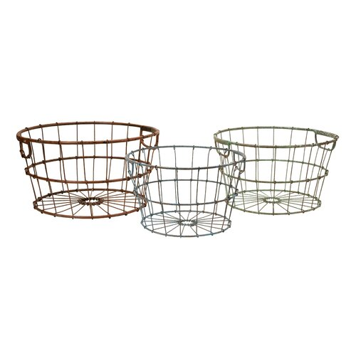 Kristley Metal Basket (Set of 3)