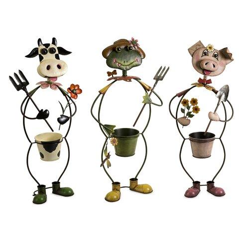 IMAX Farmhouse Friends Planters (Set of 3)