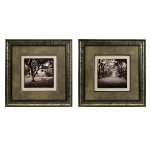 Girard Sepia 2 Piece Framed Painting Print Set