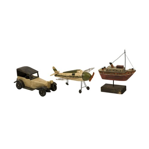 IMAX 3 Piece Wright Air Water and Land Model Transportation Figurine