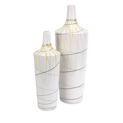 Curasso 2 Piece Retro Vase Set