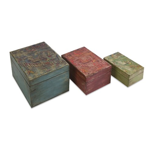 Circus Lidded Boxes (Set of 3)