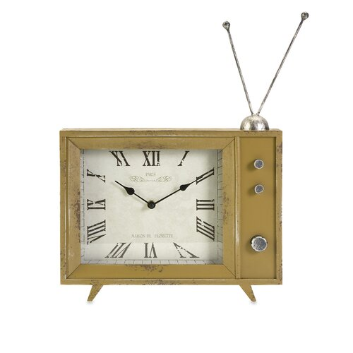 IMAX Garrett Retro TV Clock