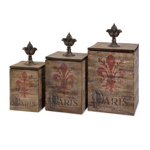 Fleur De Lis Paris Box (Set of 3)